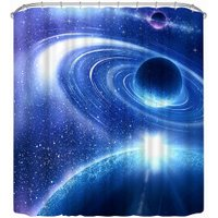 3D Space Curtain Mysterious Space Shower Curtain