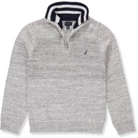 Nautica Boys' Sweater - space heather gray, 6