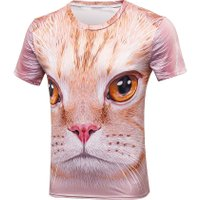 New Fashion Men/Women T-shirt Summer Tops Short Sleeve cat 3d Print T-shirt Space galaxy T shirt Cartoon Tees