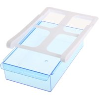 Plastic Kitchen Storage Box Refrigerator Storage Rack Fridge Freezer Shelf Holder Pull-out Drawer Organizer Space Saver