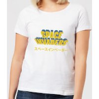 Space Invaders Japanese Women's T-Shirt - White - 4XL - White